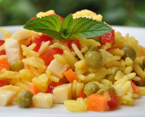 Condished rice