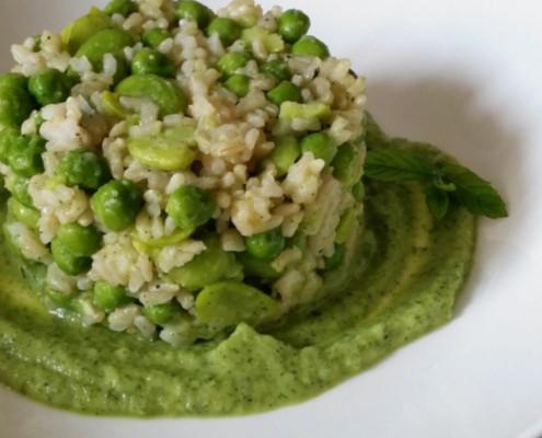 Rice, Green Peas and Basil!
