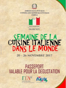 a Special Week of Italian Cuisine in France